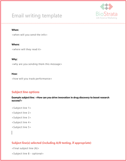 Get your free life science email marketing template
